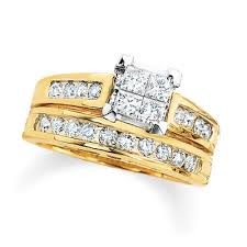 Gold Diamond Wedding Ring Sets by Gold Wedding And Engagement Ring Sets 9687