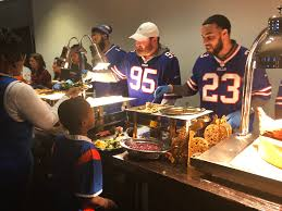 thanksgiving events about and giving back for bills players