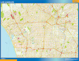 Map Los Angeles Our Los Angeles Map Wall Maps Mapmakers Offers Poster Laminated