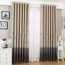 Blockout Curtains For Kids Punching Window Curtains Children Bedroom Shading European Style