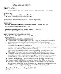 licensed professional counselor resume sample resume for high student 9 examples in word pdf