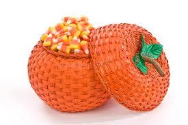 pumpkin basket full of candy corn stock photo image 44460854