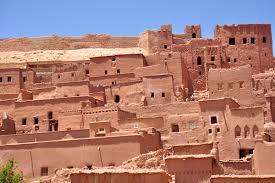 adobe houses cities of sand ksar ait ben haddou and ouarzazate morocco