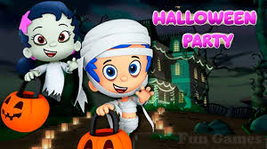 bubble guppies halloween party dress up games for kids