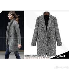 Womens Winter Coats Plus Size 2017 2017 Elegant Women Winter Wool Coats Plus Size Grey Warm