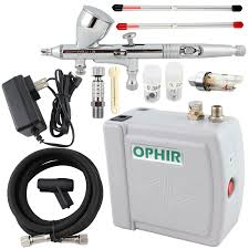 Airbrush System For Cake Decorating Ophir Free Shipping12v Dc Gray Mini Air Compressor 0 2mm 0 3mm 0 5