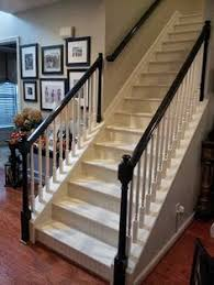 painted wood stair remodel painted wood stairs wood stairs and