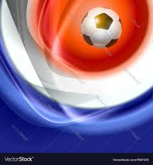 French Flag Background Football Background With France Flag Colors Vector Image
