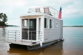 Rent A Tiny Home Ever Heard Of A Tiny Houseboat You Can Rent One At Jordan Lake