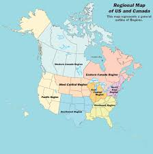 Map Of Us And Canada Four Seasons Of Service Aa Grapevine