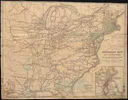 Enlarged Map Of The United States by Dinsmore U0027s New Railroad Map Of The United States And The Canadas