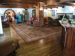 custom scraped wide plank hickory in the lobby the oaks at