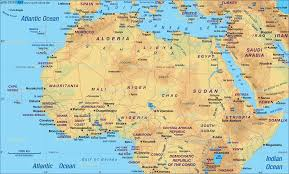 Blank Map Of North Africa by Untitled