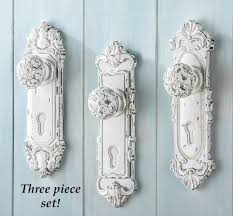 amazon com set of 3 shabby chic french country door knob hand