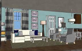 coastal contemporary living room in hampstead nc