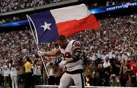Houston Texans Flags J J Watt Returns To The Field After Hurricane Harvey Time