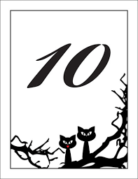 themed table numbers wedding theme table number