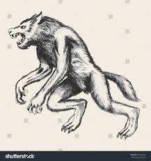 sketch illustration werewolf stock vector 254568298 shutterstock