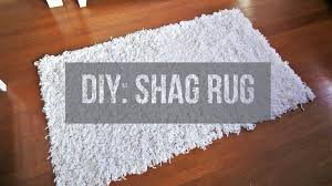 diy soft fluffy white shag rug area rug floor rug youtube