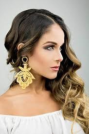 drop earrings wedding gold statement earrings chandelier earrings bridal earrings