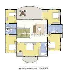 floorplan layout ground floor plan floorplan house home stock vector 74222734