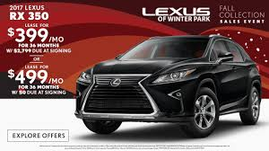lexus sports car lease specials on new lexus vehicles at lexus of winter park