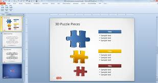 puzzle powerpoint template free download free puzzle piece shapes