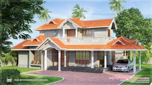 slopping style tiles roof house in 2300 sq feet home kerala plans