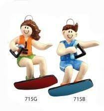 wakeboarding ornament ornaments