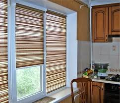 Material For Kitchen Curtains by 25 Ideas For Kitchen Window Curtains And Blinds Color Material