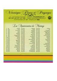 noces de mariages calendrier des noces de mariage de mariage