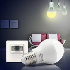 pir led light bulb 6w pir led bulb with pir senser switch e27 base ac86 265v input in