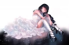 wedding dress anime wallpaper anime girl wedding dress black hair