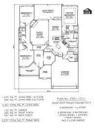 Large 1 Story House Plans 2 Story 4 Bedroom 3 Bath House Plans Escortsea