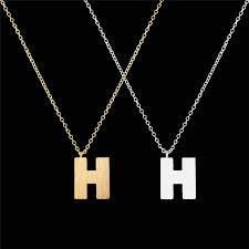 sted initial necklace h initial necklace promotion shop for promotional h initial