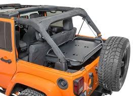 lowered 4 door jeep wrangler rampage products 86623 rear interior sport rack for 07 17 jeep