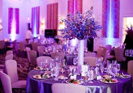 purple wedding decorations the modern blue and purple wedding decorations at the royal