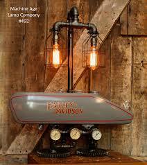 steampunk industrial lamp 1916 antique harley davidson motorcycle