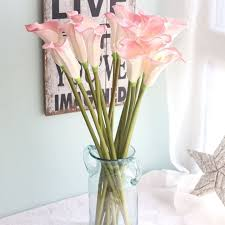 calla bouquet 15pcs denisfen flowers half open calla bouquet real