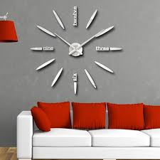amazon com vipecho modern 3d frameless large wall clock style