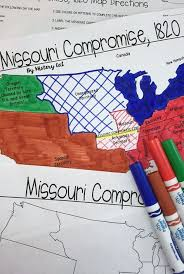 missouri map coloring pages missouri compromise map activity missouri compromise map
