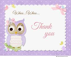 cards for friends owl friends thank you card lavender songbirds party guests
