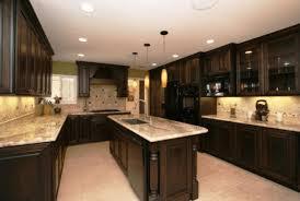 espresso kitchen cabinets with white quartz countertops how to countertop to match espresso cabinets