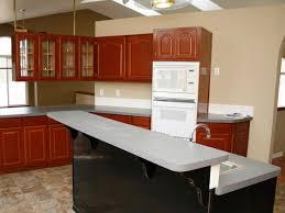 red oak wood cool mint windham door spray painting kitchen