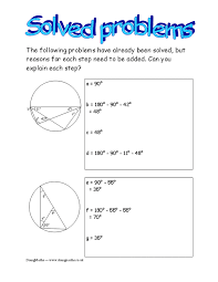 circle theorems free worksheets powerpoints and other resources