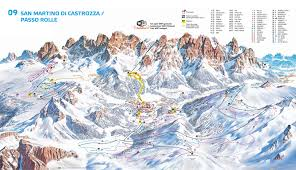 Ces Map San Martino And Passo Rolle Ski Map