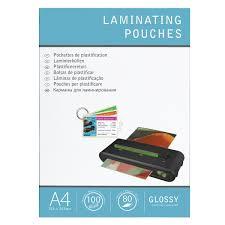 plastifier bureau en gros boîte 100 pochettes de plastification a4 2 x 80 µ brillantes