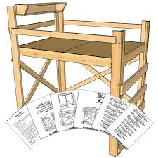 full double size loft bed plans tall height op loftbed