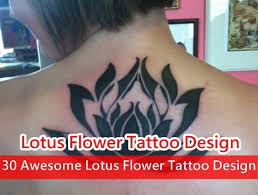 30 awesome lotus flower tattoo design