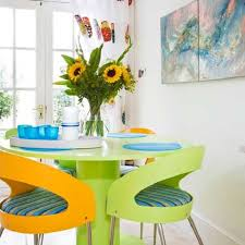Modern Dining Room Colors Adding Collage Of Colors In The Modern Dining Interior Design